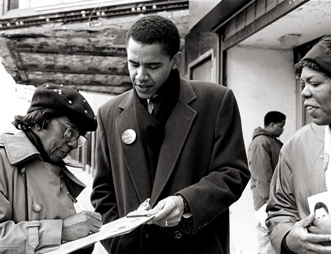 Barack Obama on the South Side during