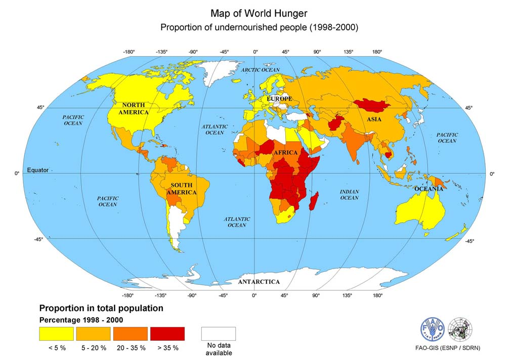Mapworldhunger melange one sixth of the planets human population going hungry mapworldhunger gumiabroncs Choice Image