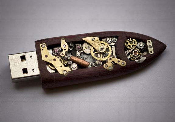 steampunk flashdrive