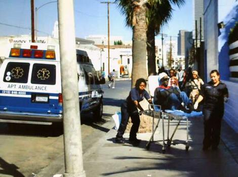LA VA Hospitals dumps veteran in skid row